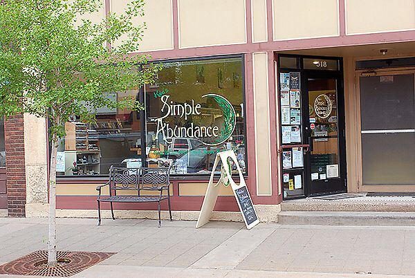 """Photo of Simple Abundance  by <a href=""""/members/profile/Katy.Rathbun"""">Katy.Rathbun</a> <br/>Store front <br/> March 2, 2018  - <a href='/contact/abuse/image/90023/365920'>Report</a>"""