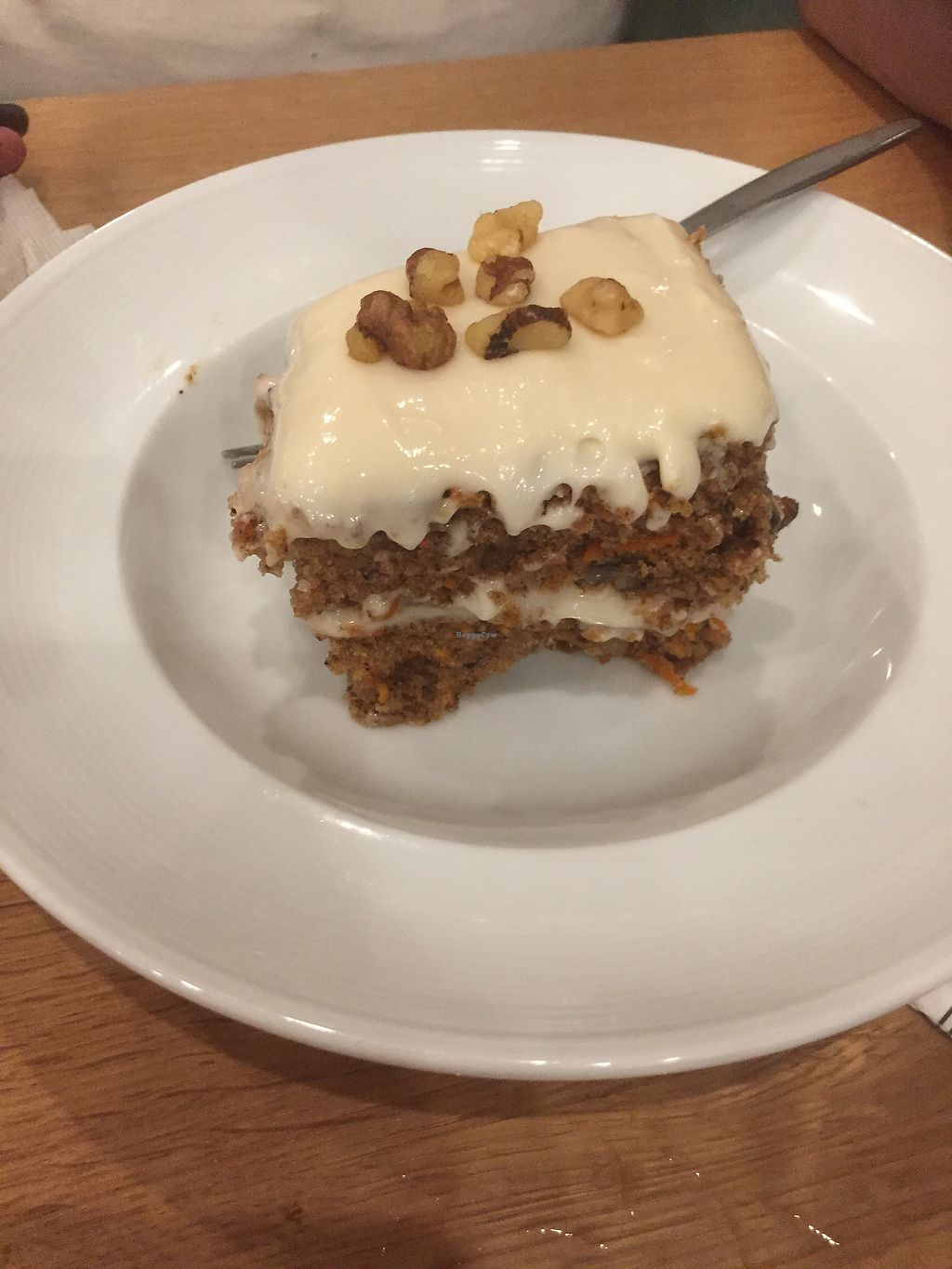 """Photo of J Selby's  by <a href=""""/members/profile/vegannomad2"""">vegannomad2</a> <br/>carrot cake - moist, not too sweet, walnuts add a nice touch <br/> July 23, 2017  - <a href='/contact/abuse/image/90026/283455'>Report</a>"""