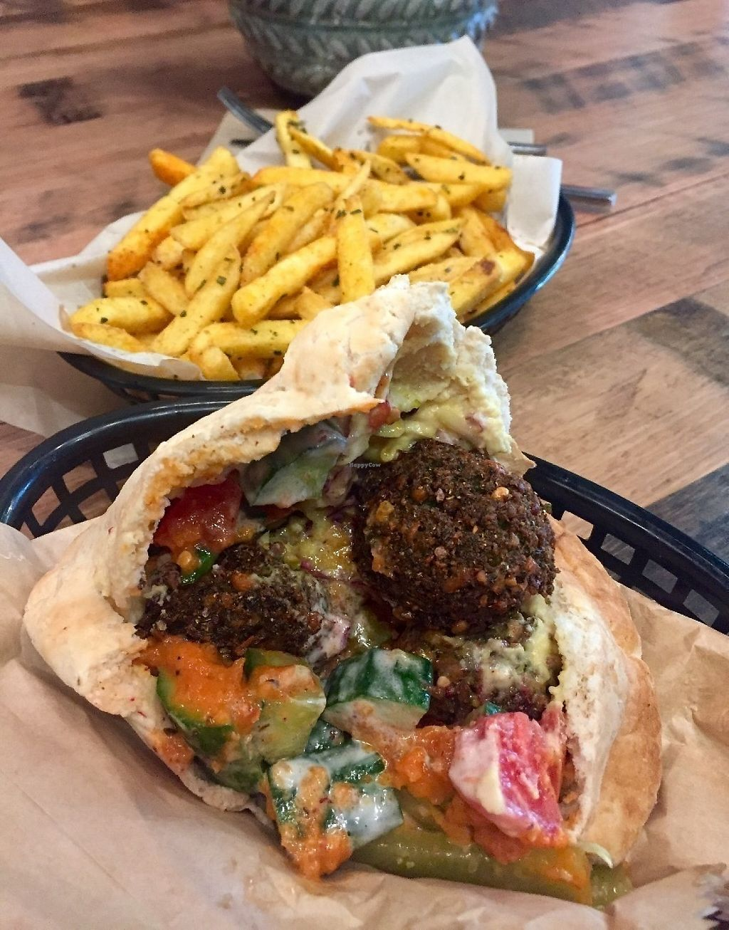 "Photo of Just Falafs  by <a href=""/members/profile/karlaess"">karlaess</a> <br/>Harissa falafel pita <br/> May 27, 2017  - <a href='/contact/abuse/image/90042/262905'>Report</a>"