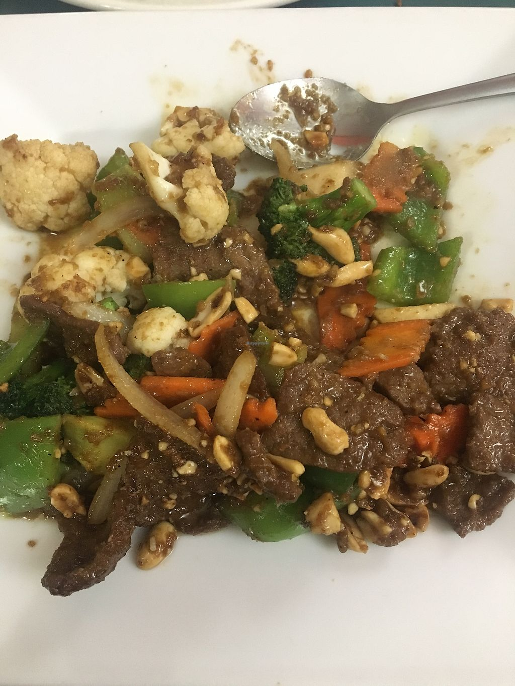 """Photo of Happy Veggie  by <a href=""""/members/profile/jkseoulcraic"""">jkseoulcraic</a> <br/>Kung pao with beef. So good! <br/> March 1, 2018  - <a href='/contact/abuse/image/9009/365199'>Report</a>"""