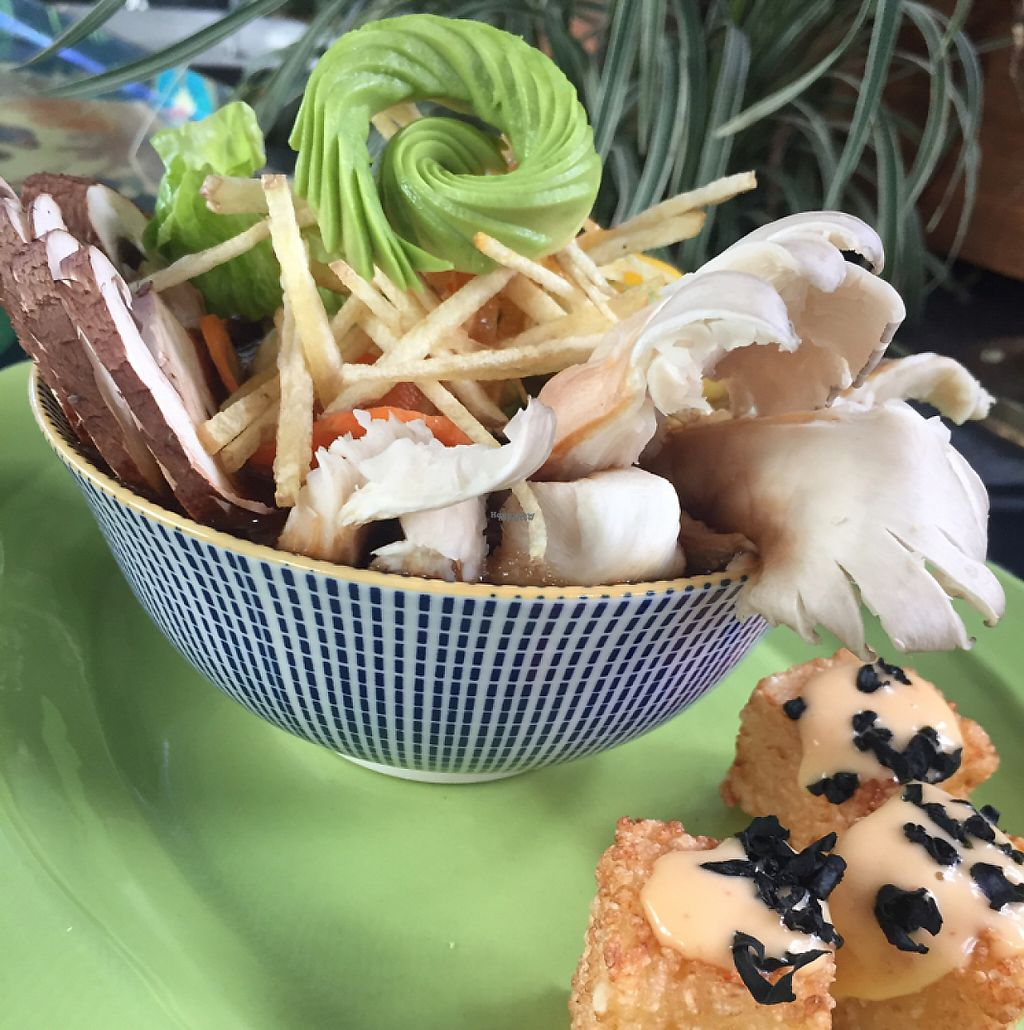 """Photo of Victoria Regia  by <a href=""""/members/profile/HuangHoTse"""">HuangHoTse</a> <br/>Ramen whit tofu, mushrooms, avocado, Victoria Regia  <br/> April 9, 2017  - <a href='/contact/abuse/image/90110/246503'>Report</a>"""
