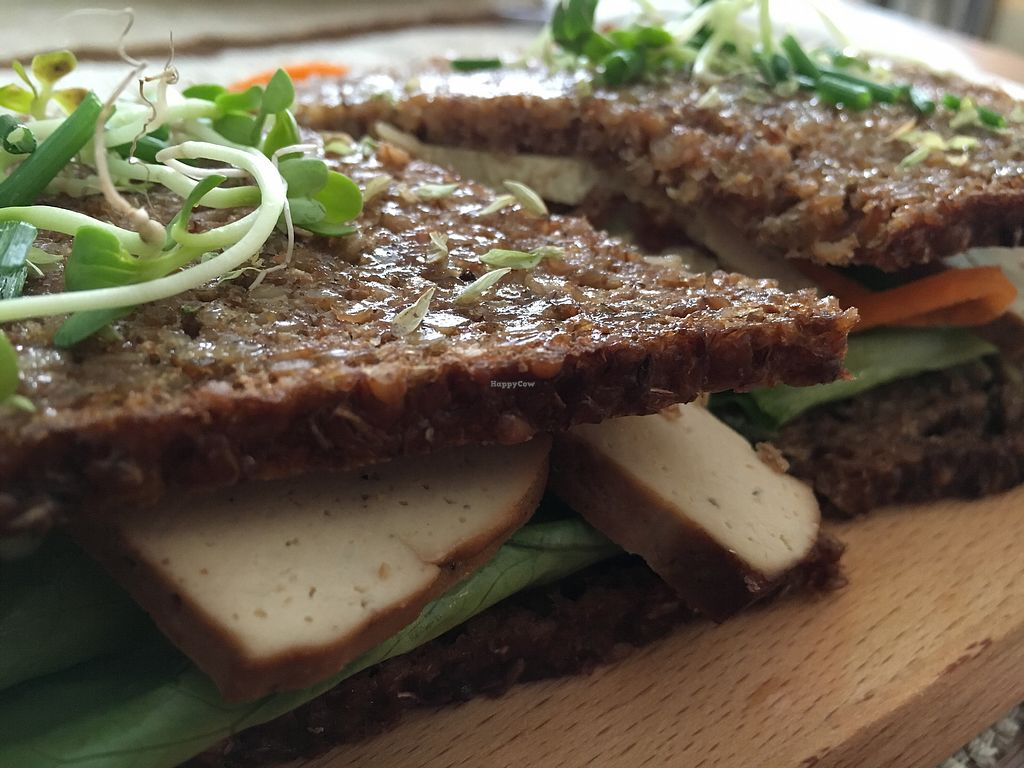 """Photo of Aloha Cafe  by <a href=""""/members/profile/hack_man"""">hack_man</a> <br/>Smoked tofu toastie <br/> September 9, 2017  - <a href='/contact/abuse/image/90124/302397'>Report</a>"""