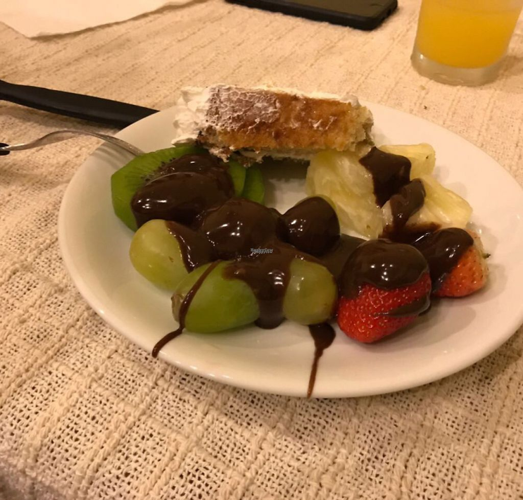 """Photo of Rancho dos Gnomos  by <a href=""""/members/profile/Paolla"""">Paolla</a> <br/>Dessert - cake and chocolate fondue <br/> April 17, 2017  - <a href='/contact/abuse/image/90131/249190'>Report</a>"""