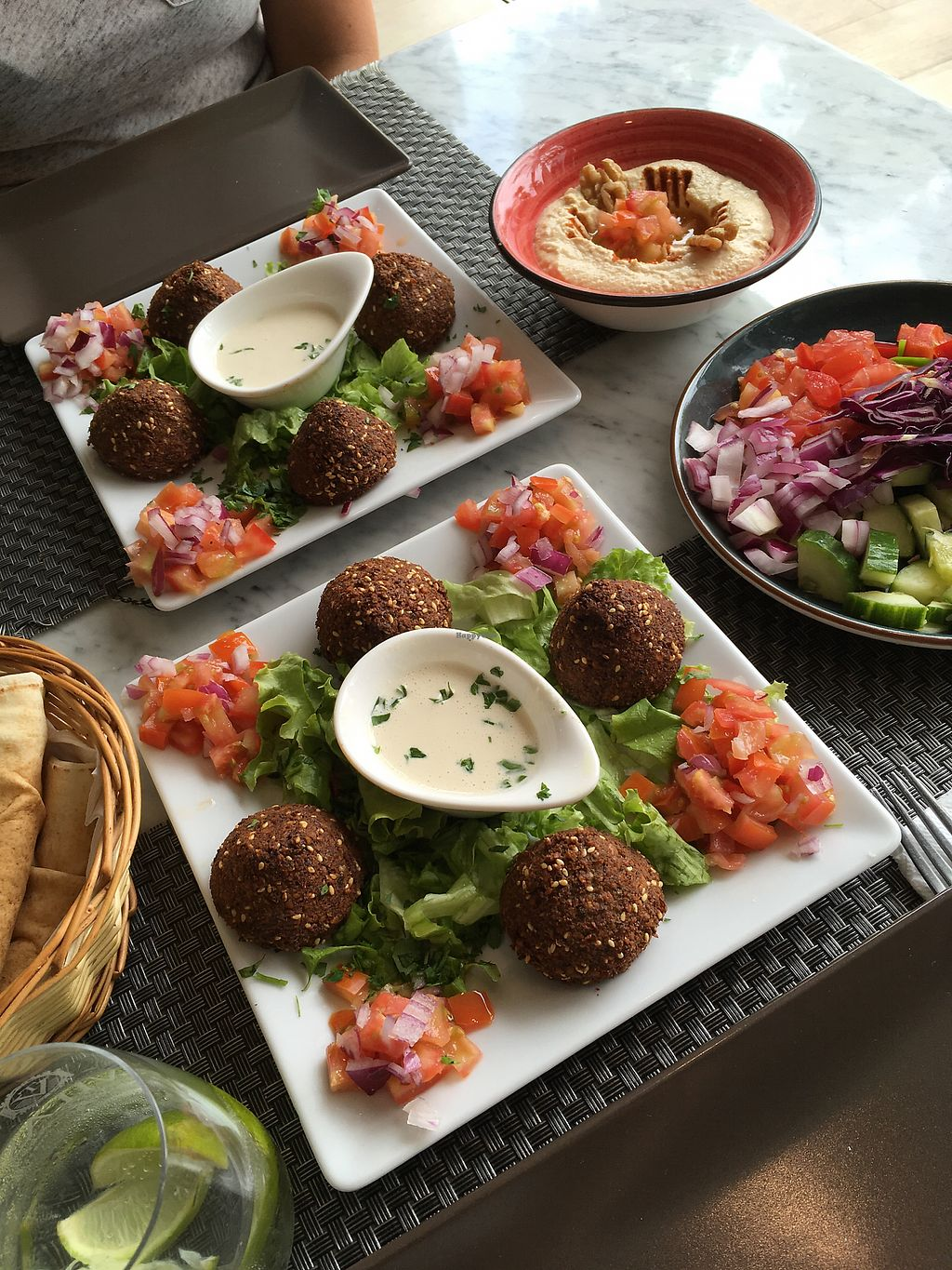 """Photo of Ilili Tenerife  by <a href=""""/members/profile/Halat"""">Halat</a> <br/>falafel with hummus and bread <br/> July 21, 2017  - <a href='/contact/abuse/image/90140/282848'>Report</a>"""