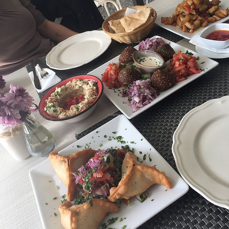 """Photo of Ilili Tenerife  by <a href=""""/members/profile/MelanieAllison"""">MelanieAllison</a> <br/>spinach empanadas, falafel and salads, babaganoush and the best potatoes ever  <br/> January 17, 2018  - <a href='/contact/abuse/image/90140/347756'>Report</a>"""