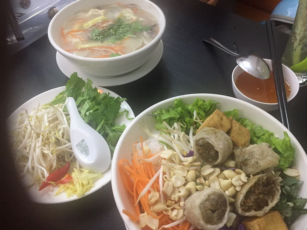 """Photo of Veggie Saigon  by <a href=""""/members/profile/VanVeganHanoi"""">VanVeganHanoi</a> <br/>Our meals  <br/> January 16, 2018  - <a href='/contact/abuse/image/90157/347209'>Report</a>"""