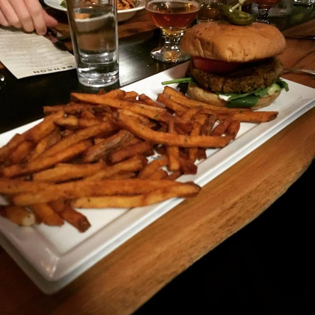 "Photo of Benson Brewery  by <a href=""/members/profile/shafess"">shafess</a> <br/>Black Bean Burger <br/> April 12, 2017  - <a href='/contact/abuse/image/90199/247370'>Report</a>"