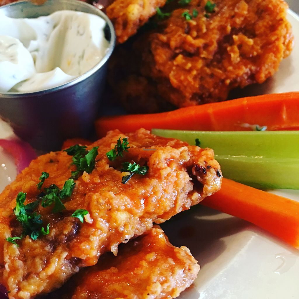 "Photo of Benson Brewery  by <a href=""/members/profile/LeesaOlson"">LeesaOlson</a> <br/>Seitan Wings! <br/> April 25, 2018  - <a href='/contact/abuse/image/90199/390909'>Report</a>"