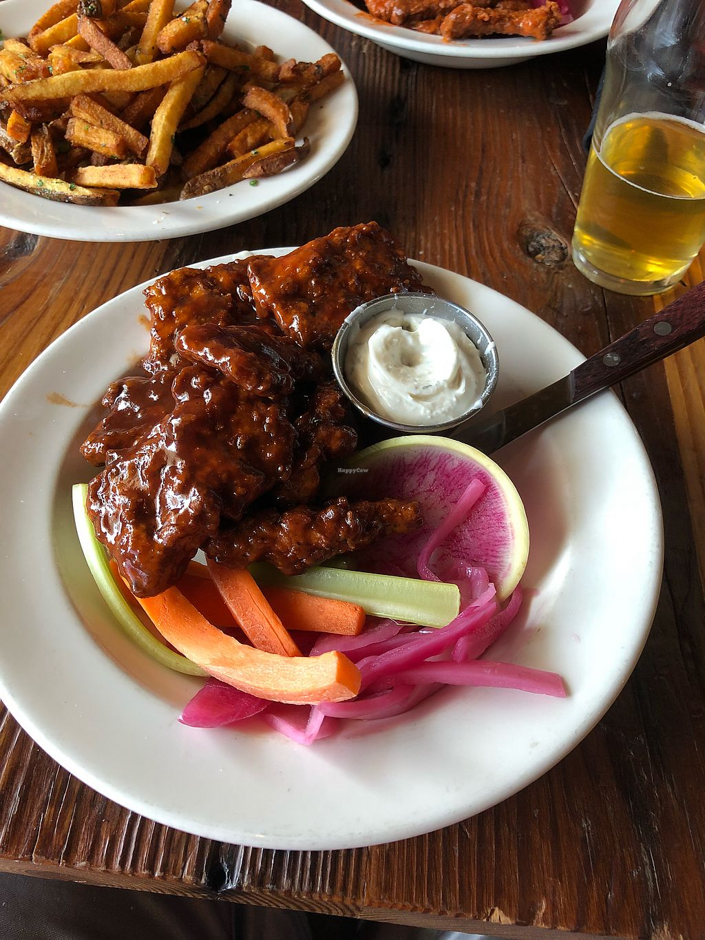 "Photo of Benson Brewery  by <a href=""/members/profile/Jadediana"">Jadediana</a> <br/>Vegan BBQ Seitan Wings with Vegan Ranch  <br/> May 12, 2018  - <a href='/contact/abuse/image/90199/398843'>Report</a>"