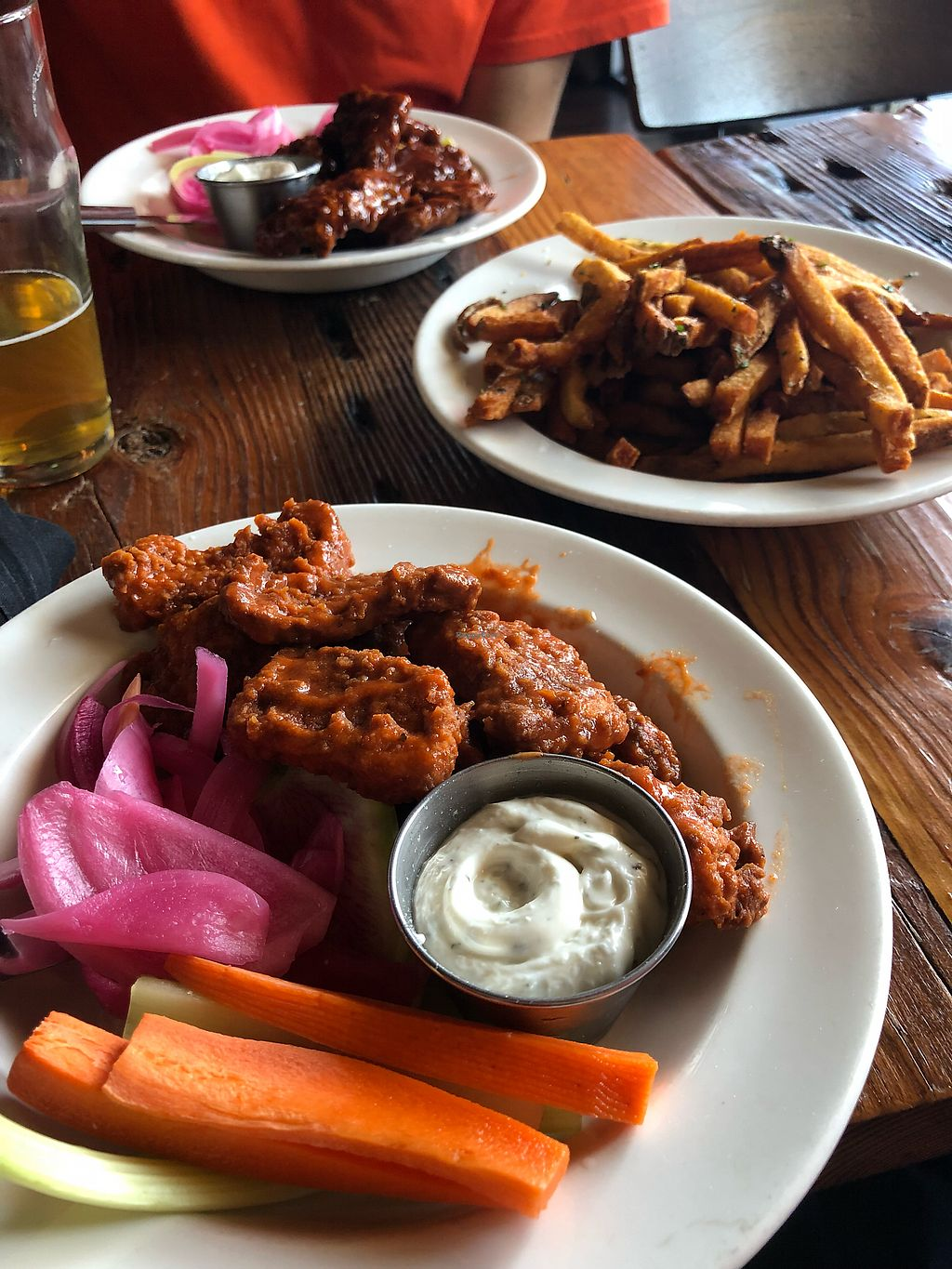 "Photo of Benson Brewery  by <a href=""/members/profile/Jadediana"">Jadediana</a> <br/>Two types of vegan wings with vegan ranch and fries  <br/> May 12, 2018  - <a href='/contact/abuse/image/90199/398845'>Report</a>"