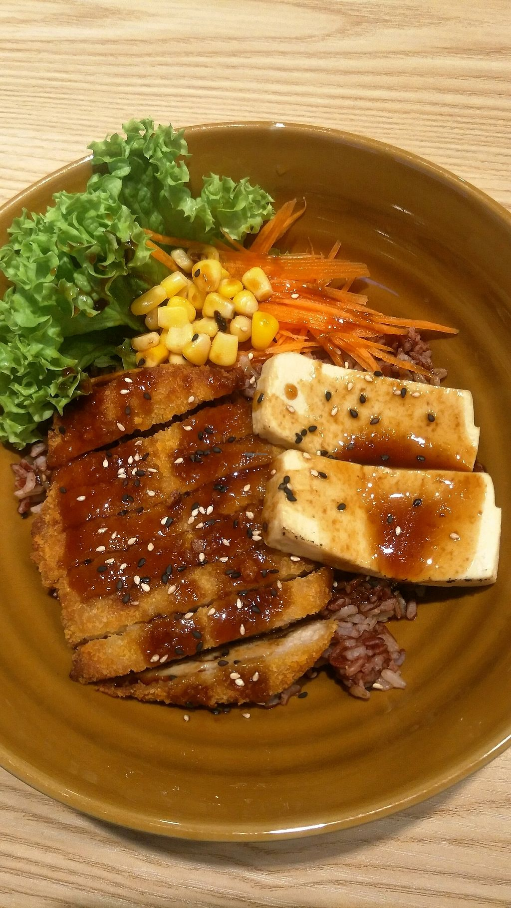 """Photo of Harmony Hut International Food  by <a href=""""/members/profile/spslcw"""">spslcw</a> <br/>chicken teriyaki cutlet rice <br/> October 14, 2017  - <a href='/contact/abuse/image/90230/314982'>Report</a>"""