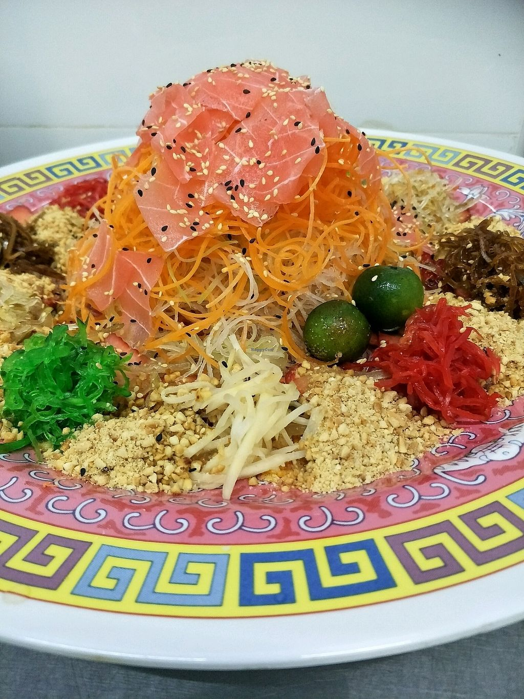 """Photo of Harmony Hut International Food  by <a href=""""/members/profile/MichelleNg"""">MichelleNg</a> <br/>yummy veg salmon yusheng <br/> February 17, 2018  - <a href='/contact/abuse/image/90230/360188'>Report</a>"""