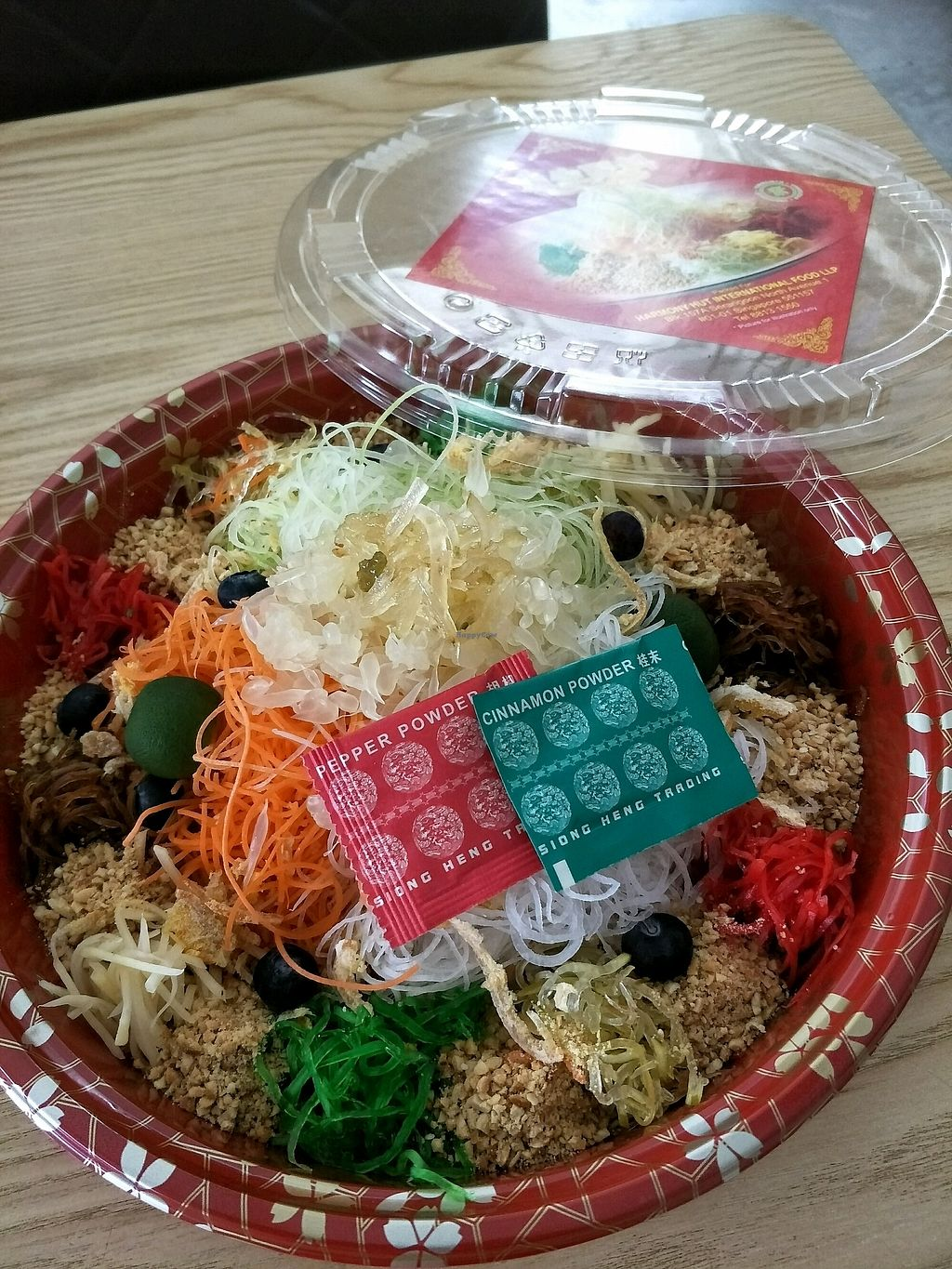 """Photo of Harmony Hut International Food  by <a href=""""/members/profile/MichelleNg"""">MichelleNg</a> <br/>takeaway yusheng? <br/> February 17, 2018  - <a href='/contact/abuse/image/90230/360203'>Report</a>"""