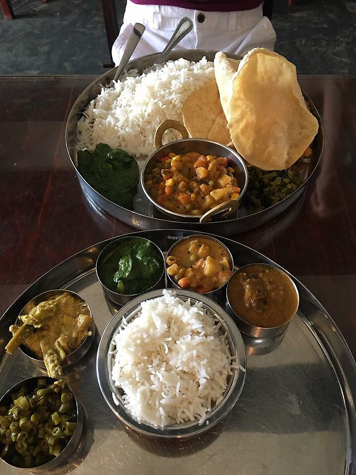 "Photo of Curry Magic  by <a href=""/members/profile/CherylQuincy"">CherylQuincy</a> <br/>Vegan Thali  <br/> January 17, 2018  - <a href='/contact/abuse/image/90235/347443'>Report</a>"