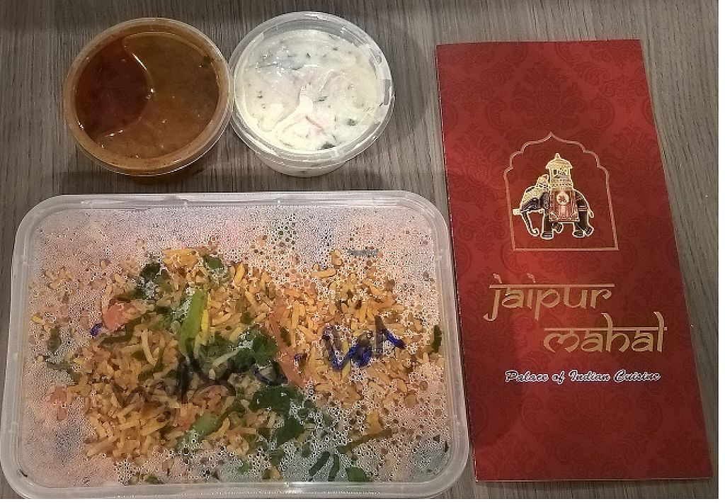 "Photo of Jaipur Mahal  by <a href=""/members/profile/BigPotato"">BigPotato</a> <br/>Veg Biryani with authentic Indian spices <br/> April 17, 2017  - <a href='/contact/abuse/image/90253/249298'>Report</a>"