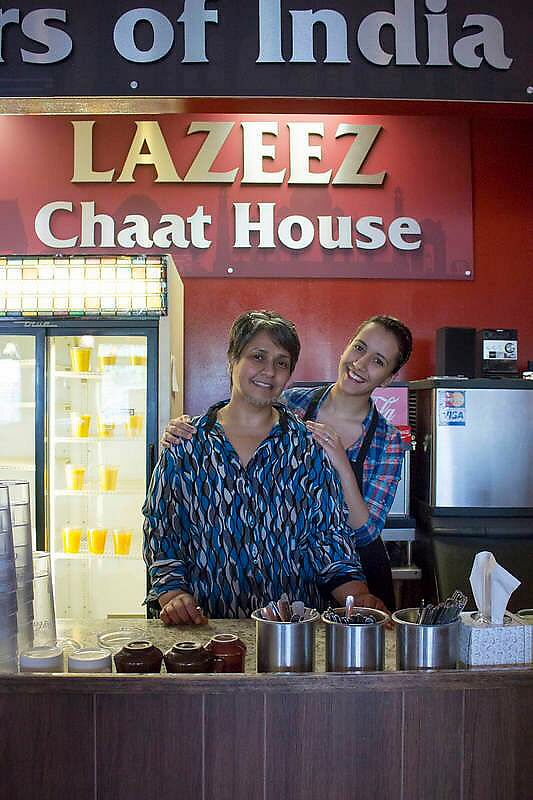 "Photo of Lazeez Flavors of India  by <a href=""/members/profile/SarahDowns"">SarahDowns</a> <br/>Lovely mother-daughter duo <br/> April 5, 2018  - <a href='/contact/abuse/image/90271/381138'>Report</a>"