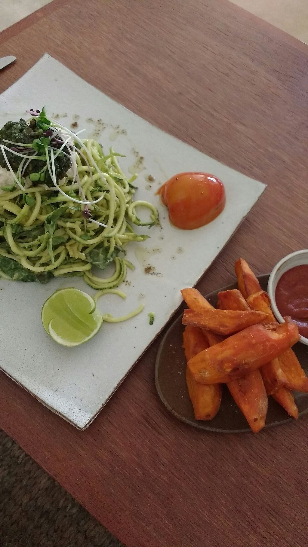 "Photo of Vibe Cafe  by <a href=""/members/profile/Anouk1121"">Anouk1121</a> <br/>Zucchini noodles and fries <br/> December 18, 2017  - <a href='/contact/abuse/image/90274/336914'>Report</a>"