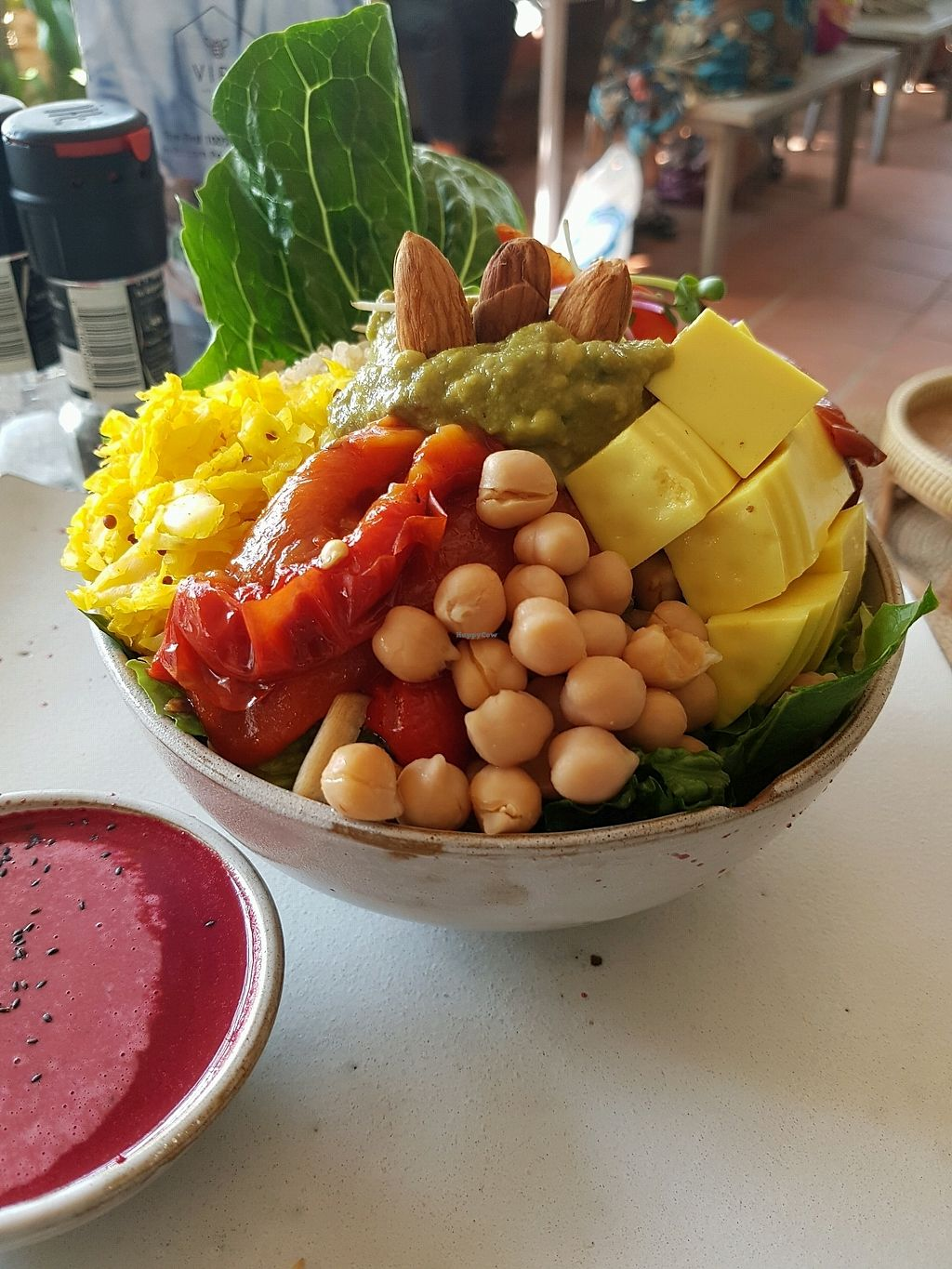 "Photo of Vibe Cafe  by <a href=""/members/profile/vegatleticas"">vegatleticas</a> <br/>delicious vegan bowl <br/> February 23, 2018  - <a href='/contact/abuse/image/90274/362683'>Report</a>"