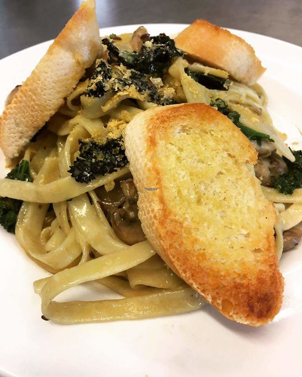 """Photo of Cafe Britannia  by <a href=""""/members/profile/community5"""">community5</a> <br/>Creamy vegan pasta <br/> April 12, 2017  - <a href='/contact/abuse/image/90278/247169'>Report</a>"""