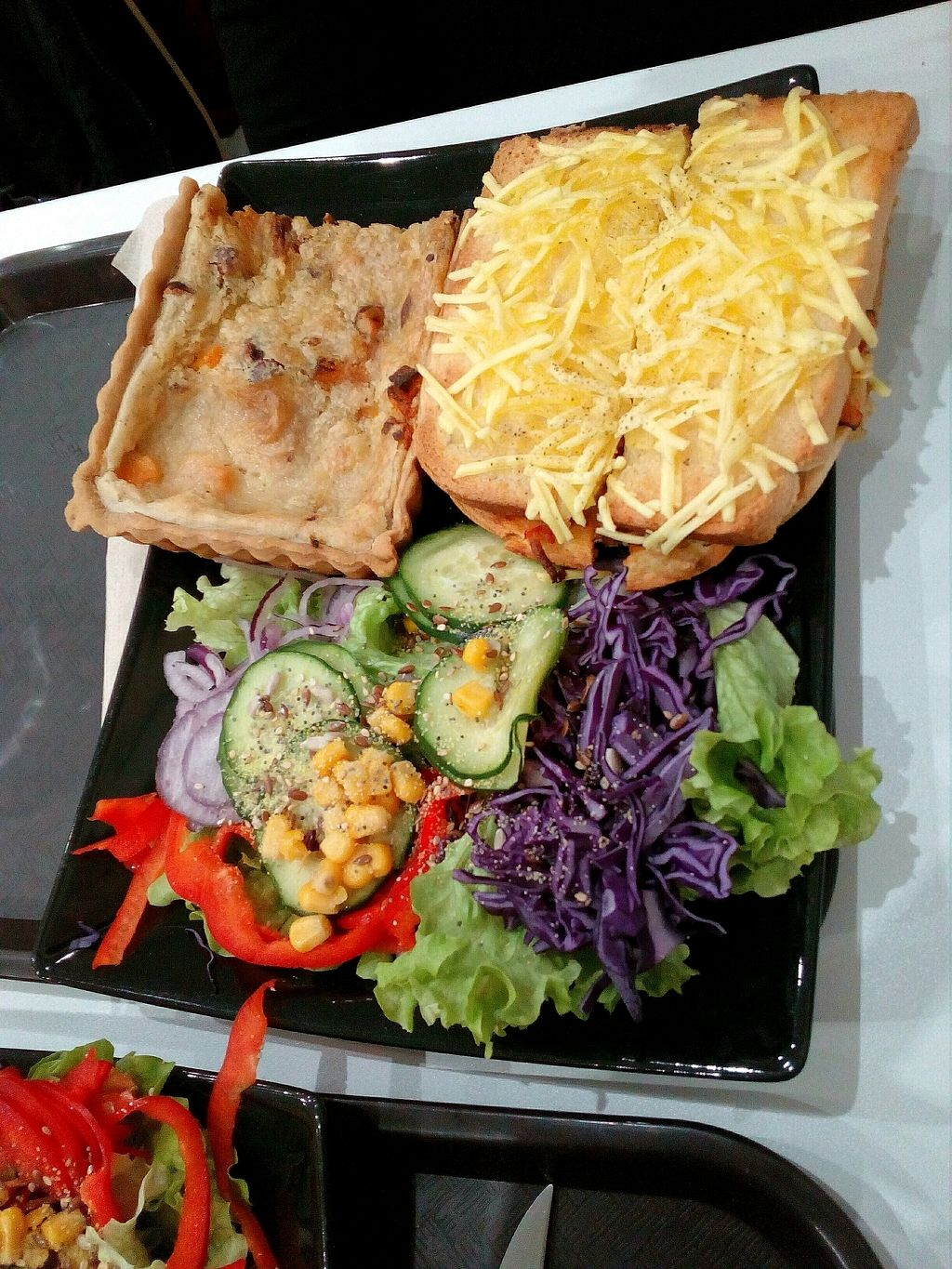 """Photo of Veggie Corner  by <a href=""""/members/profile/wyrd"""">wyrd</a> <br/>hazelnuts quiche and bread and cheese and salad <br/> December 14, 2017  - <a href='/contact/abuse/image/90289/335516'>Report</a>"""