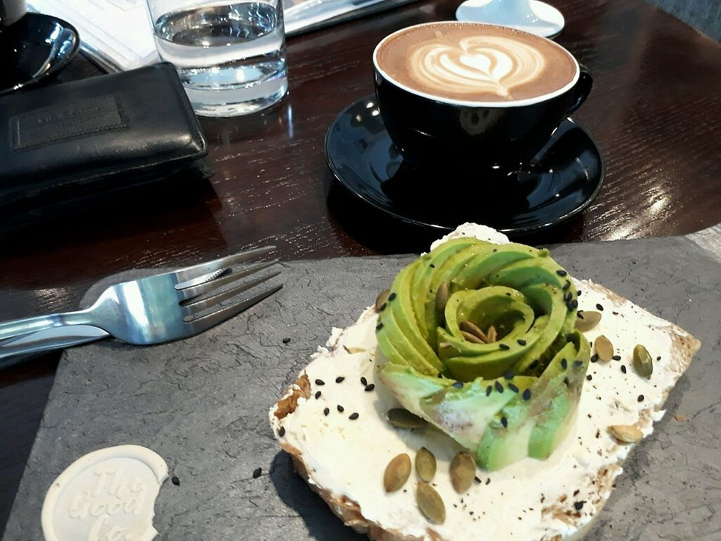 """Photo of The Good Co.  by <a href=""""/members/profile/LilacHippy"""">LilacHippy</a> <br/>Avocado Toast <br/> October 28, 2017  - <a href='/contact/abuse/image/90290/319610'>Report</a>"""