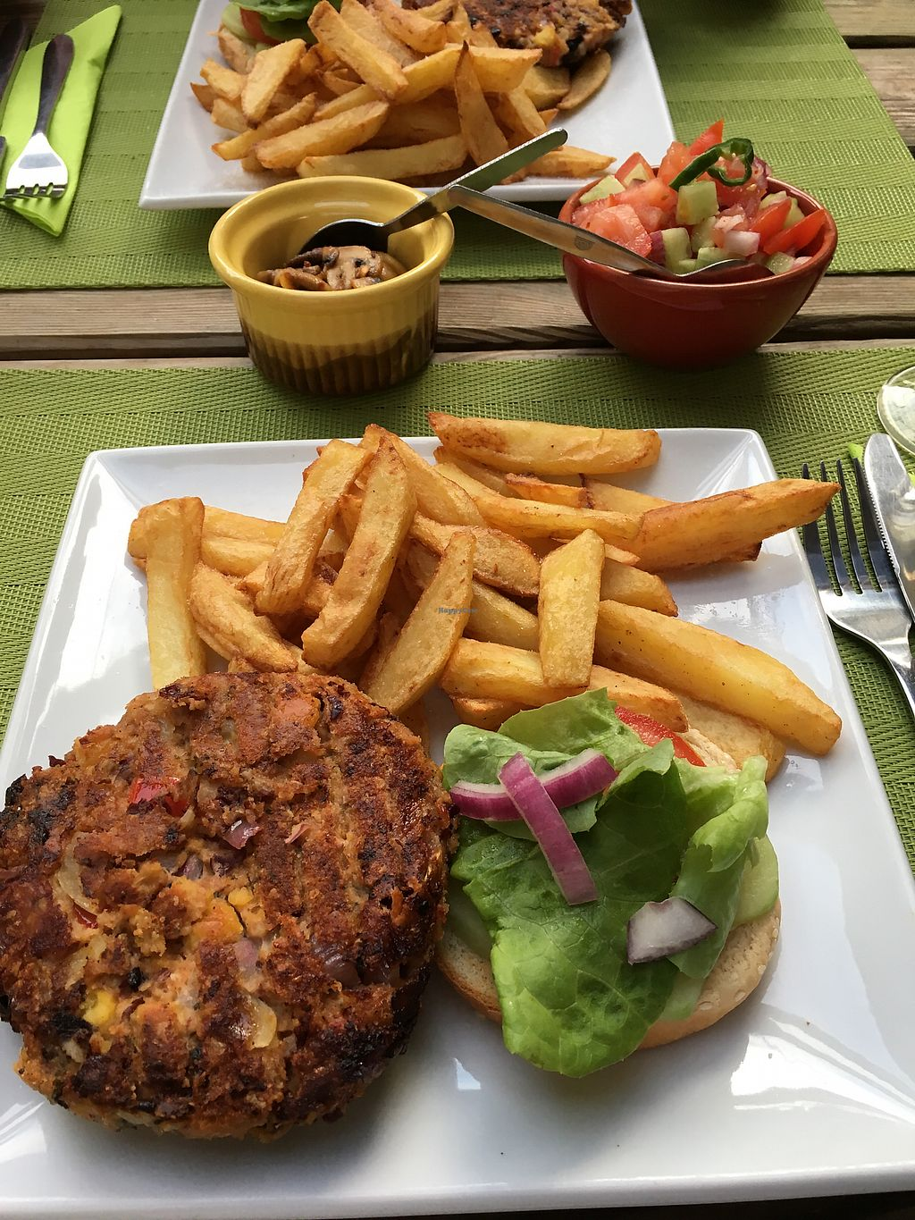 "Photo of Le Jardin de Froulay  by <a href=""/members/profile/LoesPeters"">LoesPeters</a> <br/>homemade vega burger with homemade frites! <br/> August 22, 2017  - <a href='/contact/abuse/image/90298/295982'>Report</a>"