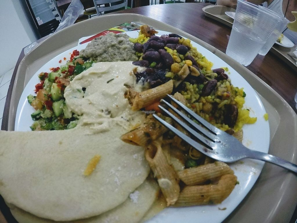 """Photo of Alhambra  by <a href=""""/members/profile/walkingvegan"""">walkingvegan</a> <br/>Some of the vegan options <br/> April 14, 2017  - <a href='/contact/abuse/image/90299/247999'>Report</a>"""