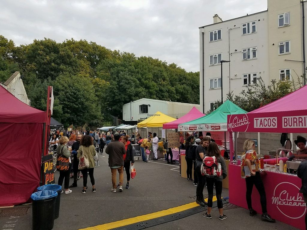"""Photo of Hackney Downs Vegan Market  by <a href=""""/members/profile/eric"""">eric</a> <br/>the market <br/> September 23, 2017  - <a href='/contact/abuse/image/90315/307457'>Report</a>"""