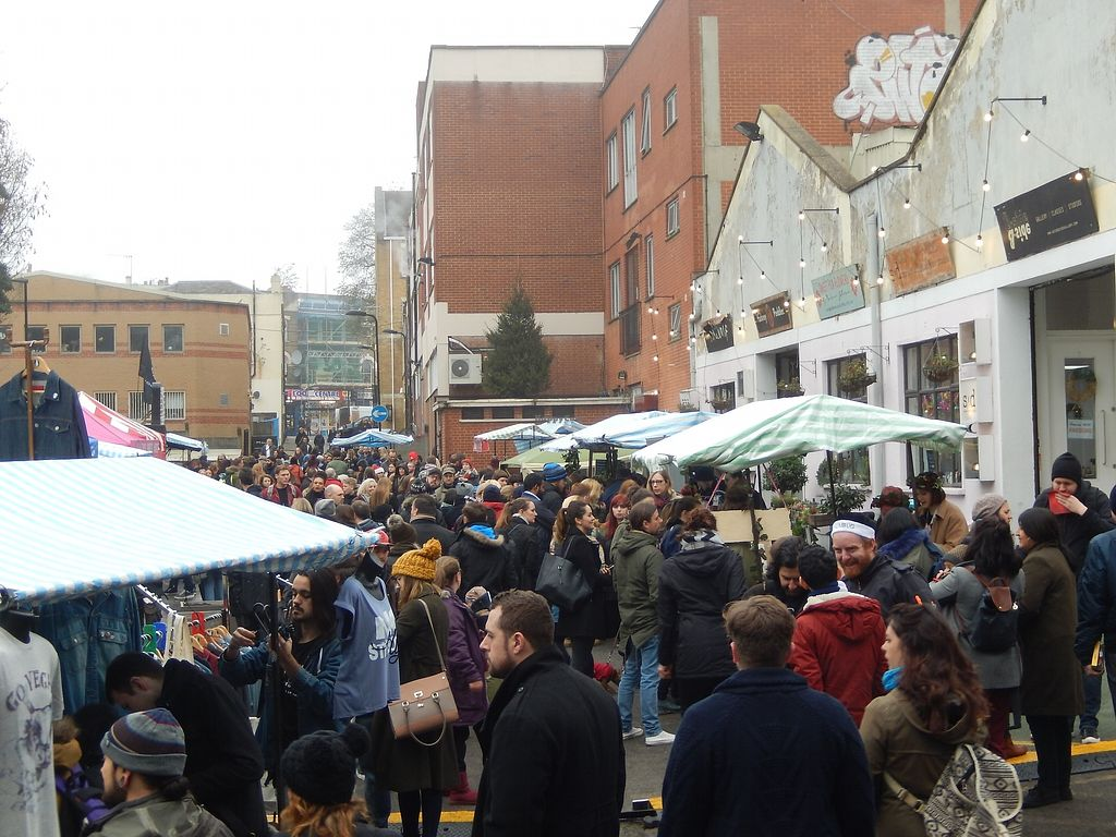 """Photo of Hackney Downs Vegan Market  by <a href=""""/members/profile/CLRtraveller"""">CLRtraveller</a> <br/>December 17, 2017, market <br/> March 30, 2018  - <a href='/contact/abuse/image/90315/378050'>Report</a>"""