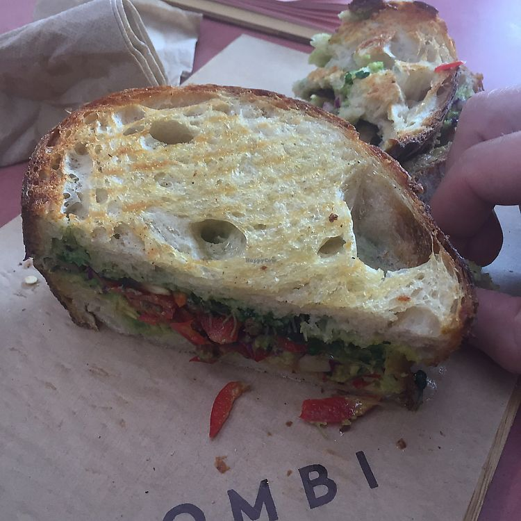 "Photo of Combi Byron Bay  by <a href=""/members/profile/NatashaQuasar"">NatashaQuasar</a> <br/>Vegan Toasted Sandwich  <br/> July 16, 2017  - <a href='/contact/abuse/image/90334/280876'>Report</a>"