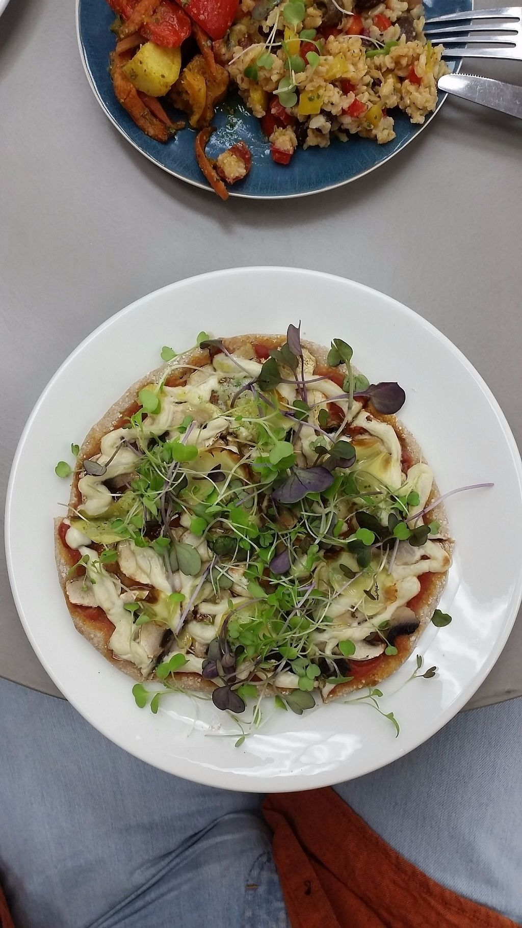 """Photo of Wholegrain Organics  by <a href=""""/members/profile/AndyTheVWDude"""">AndyTheVWDude</a> <br/>Delicious Mushroom Pizza <br/> April 13, 2017  - <a href='/contact/abuse/image/90377/247716'>Report</a>"""