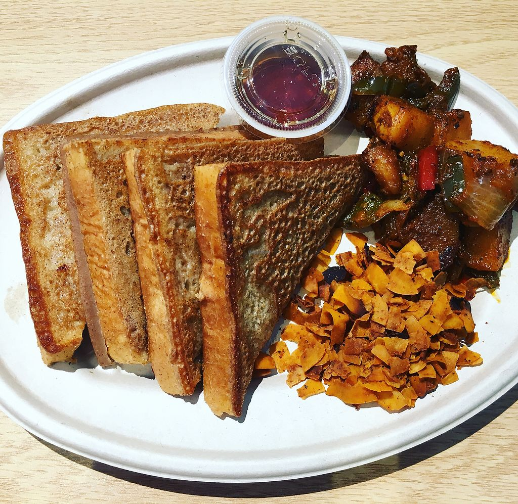 """Photo of The Grub Factory  by <a href=""""/members/profile/yourgirl_AK"""">yourgirl_AK</a> <br/>French toast, coconut bacon, & the best homefries ever! <br/> July 23, 2017  - <a href='/contact/abuse/image/90385/283907'>Report</a>"""