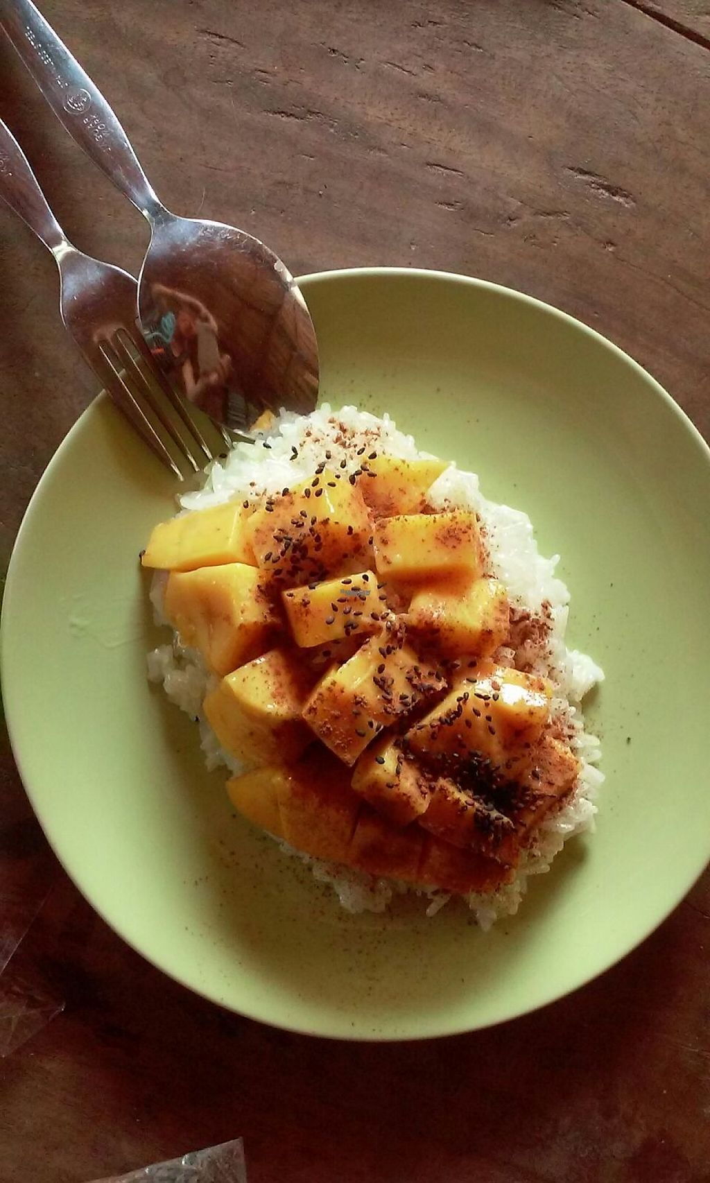 """Photo of The Garden of Nang  by <a href=""""/members/profile/Astravegan"""">Astravegan</a> <br/>Sticky Rice with mango <br/> April 24, 2017  - <a href='/contact/abuse/image/90402/251868'>Report</a>"""