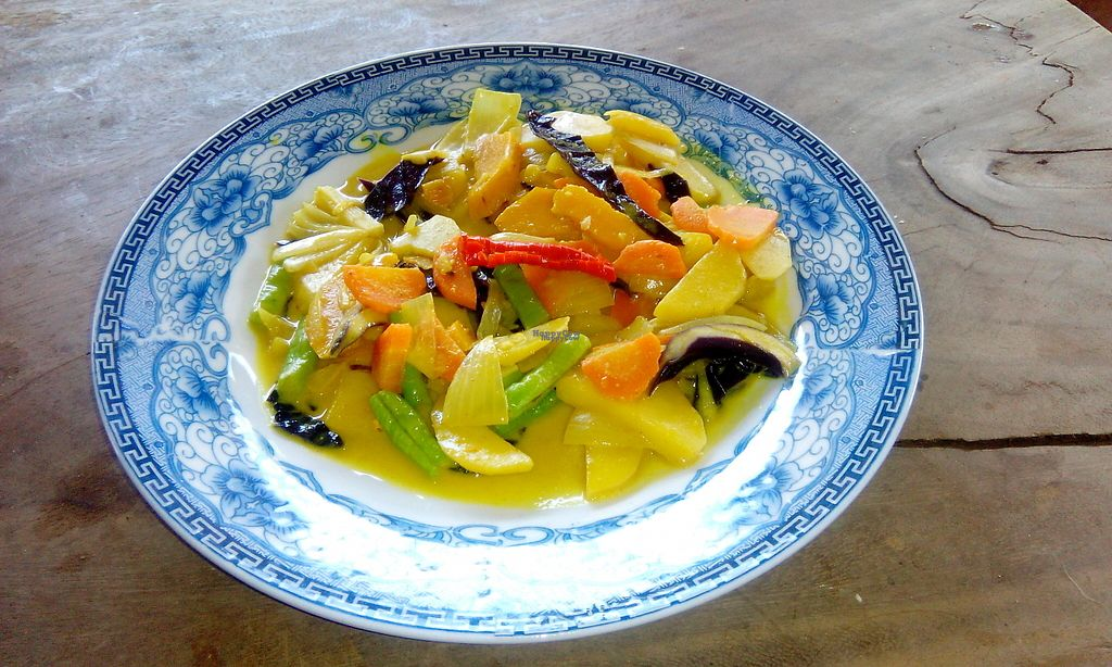 """Photo of The Garden of Nang  by <a href=""""/members/profile/Astravegan"""">Astravegan</a> <br/>Fried vegetables with coconut milk <br/> April 26, 2017  - <a href='/contact/abuse/image/90402/252686'>Report</a>"""