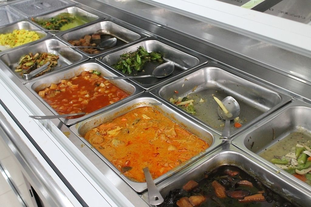 """Photo of Vege Food Station  by <a href=""""/members/profile/AngelaBryant"""">AngelaBryant</a> <br/>Buffet of curries and stir fries  <br/> April 22, 2017  - <a href='/contact/abuse/image/90409/250780'>Report</a>"""