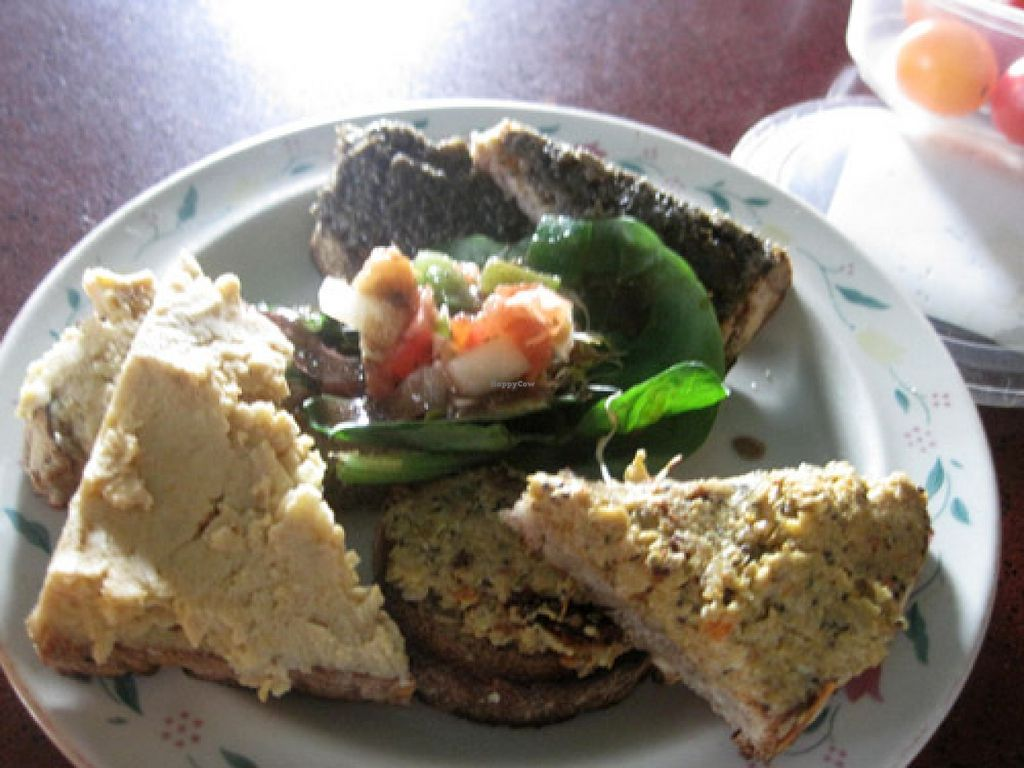 "Photo of L'Escalier  by <a href=""/members/profile/Babette"">Babette</a> <br/>Tapas with hummus, veggie pâté and tapenade <br/> August 6, 2015  - <a href='/contact/abuse/image/9040/112560'>Report</a>"