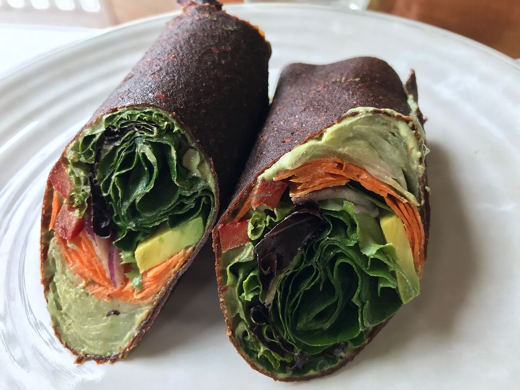 """Photo of Julia's Juice Bar Farm Fresh Cafe  by <a href=""""/members/profile/Zulusound"""">Zulusound</a> <br/>Garden nut wrap with homemade wrap <br/> September 14, 2017  - <a href='/contact/abuse/image/90427/304514'>Report</a>"""