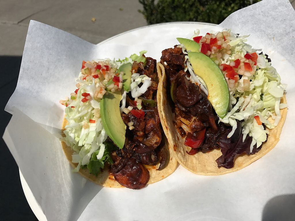 """Photo of Julia's Juice Bar Farm Fresh Cafe  by <a href=""""/members/profile/Zulusound"""">Zulusound</a> <br/>Veggie Mole tacos. Delicious! <br/> September 14, 2017  - <a href='/contact/abuse/image/90427/304515'>Report</a>"""