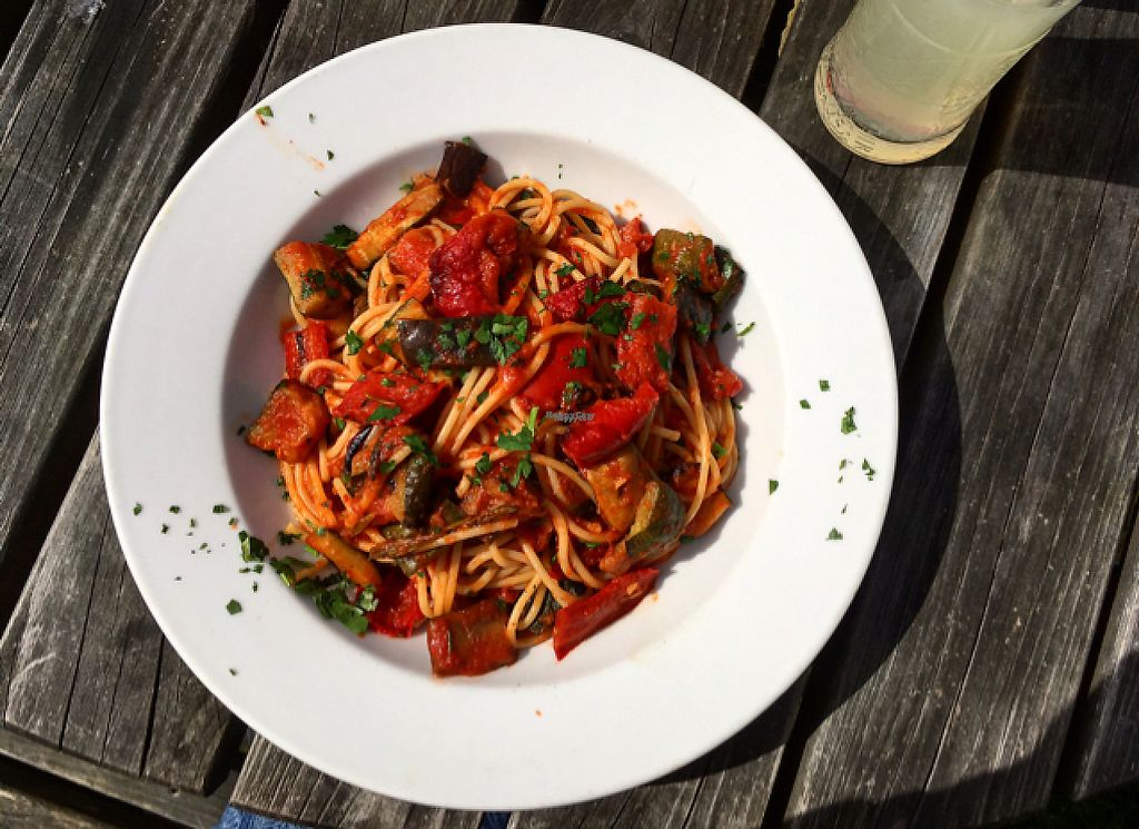 """Photo of The Windmill Inn  by <a href=""""/members/profile/ImogenB"""">ImogenB</a> <br/>vegan fresh Mediterranean pasta <br/> April 16, 2017  - <a href='/contact/abuse/image/90441/248919'>Report</a>"""