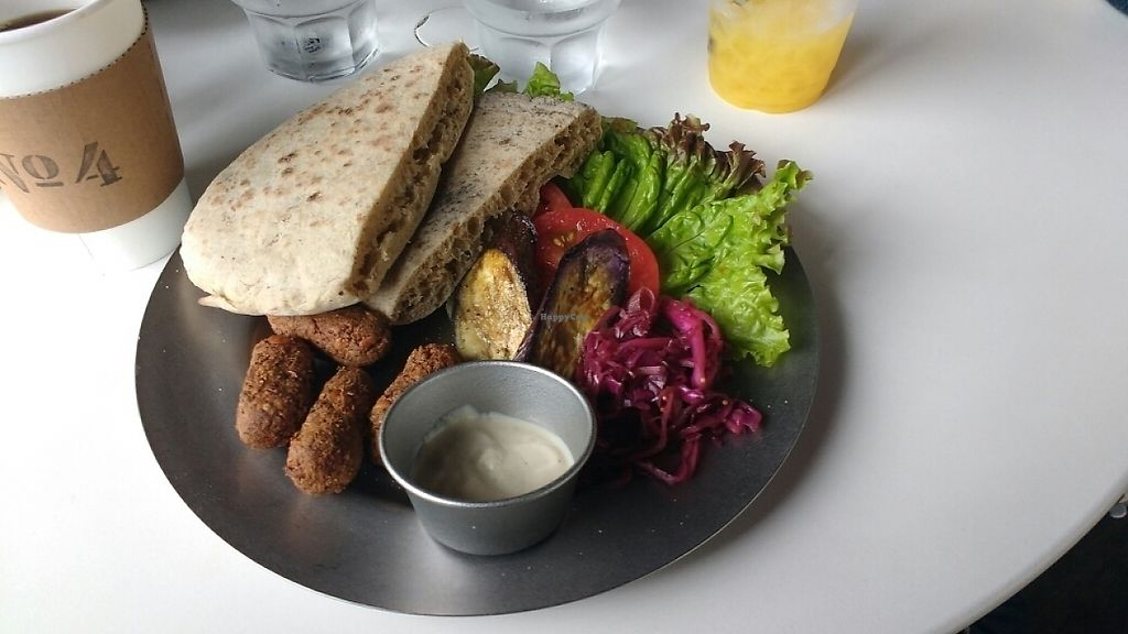 """Photo of No. 4  by <a href=""""/members/profile/daisyzilla"""">daisyzilla</a> <br/>Falafel with vegan yogurt <br/> May 26, 2017  - <a href='/contact/abuse/image/90444/262544'>Report</a>"""