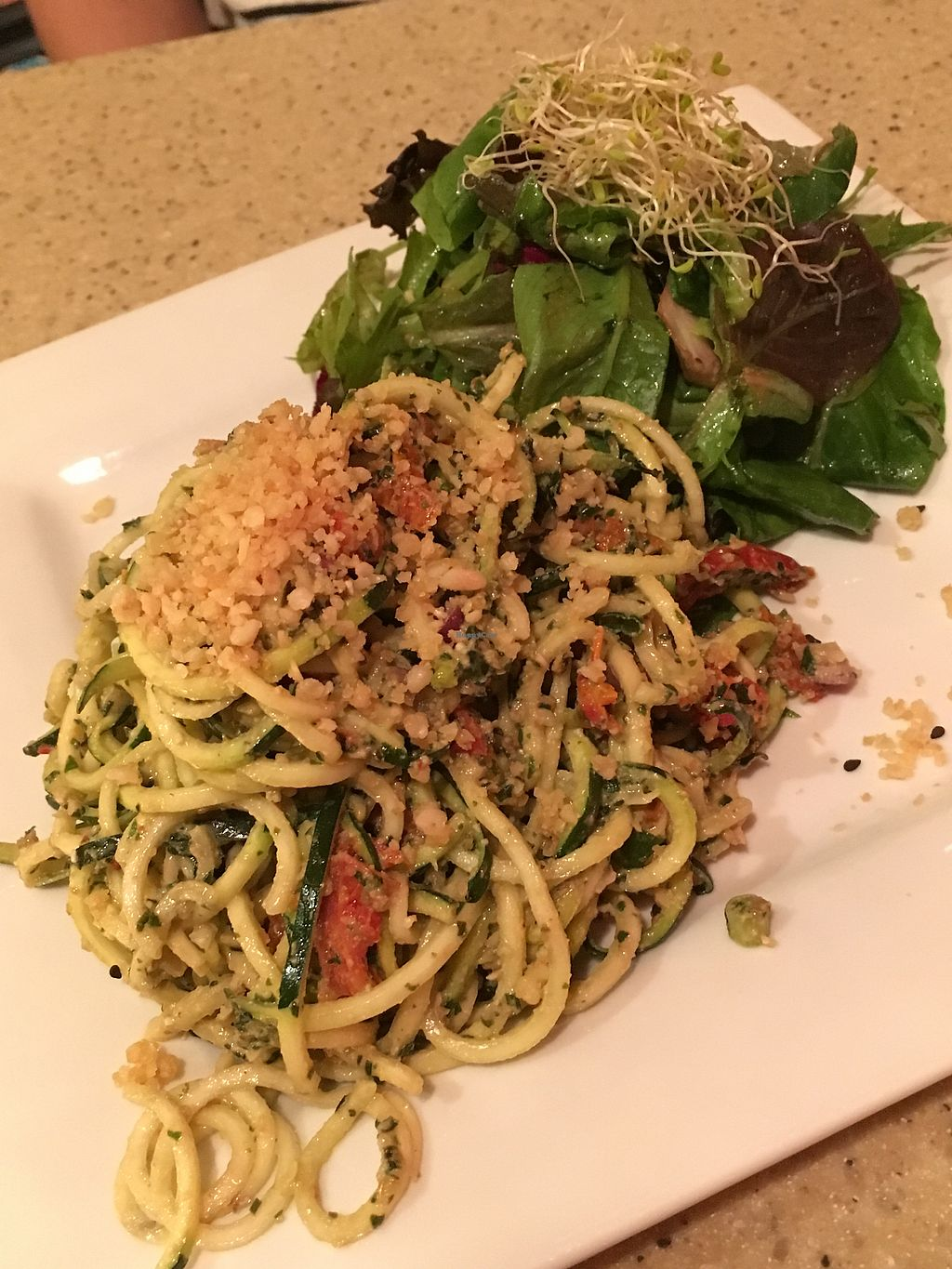 "Photo of The Present Moment Cafe and Market  by <a href=""/members/profile/KWdaddio"">KWdaddio</a> <br/>Zucchini white pesto.  <br/> November 13, 2017  - <a href='/contact/abuse/image/9044/324998'>Report</a>"