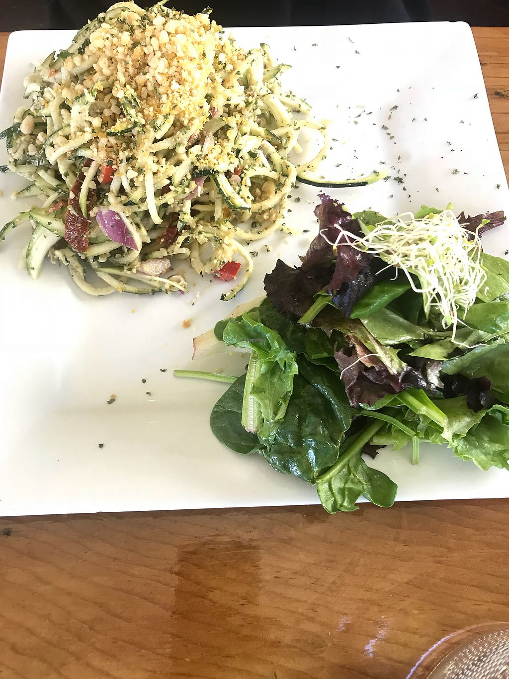 "Photo of The Present Moment Cafe and Market  by <a href=""/members/profile/IndreArbataityte"">IndreArbataityte</a> <br/>Zucchini noodles  <br/> May 27, 2018  - <a href='/contact/abuse/image/9044/405847'>Report</a>"