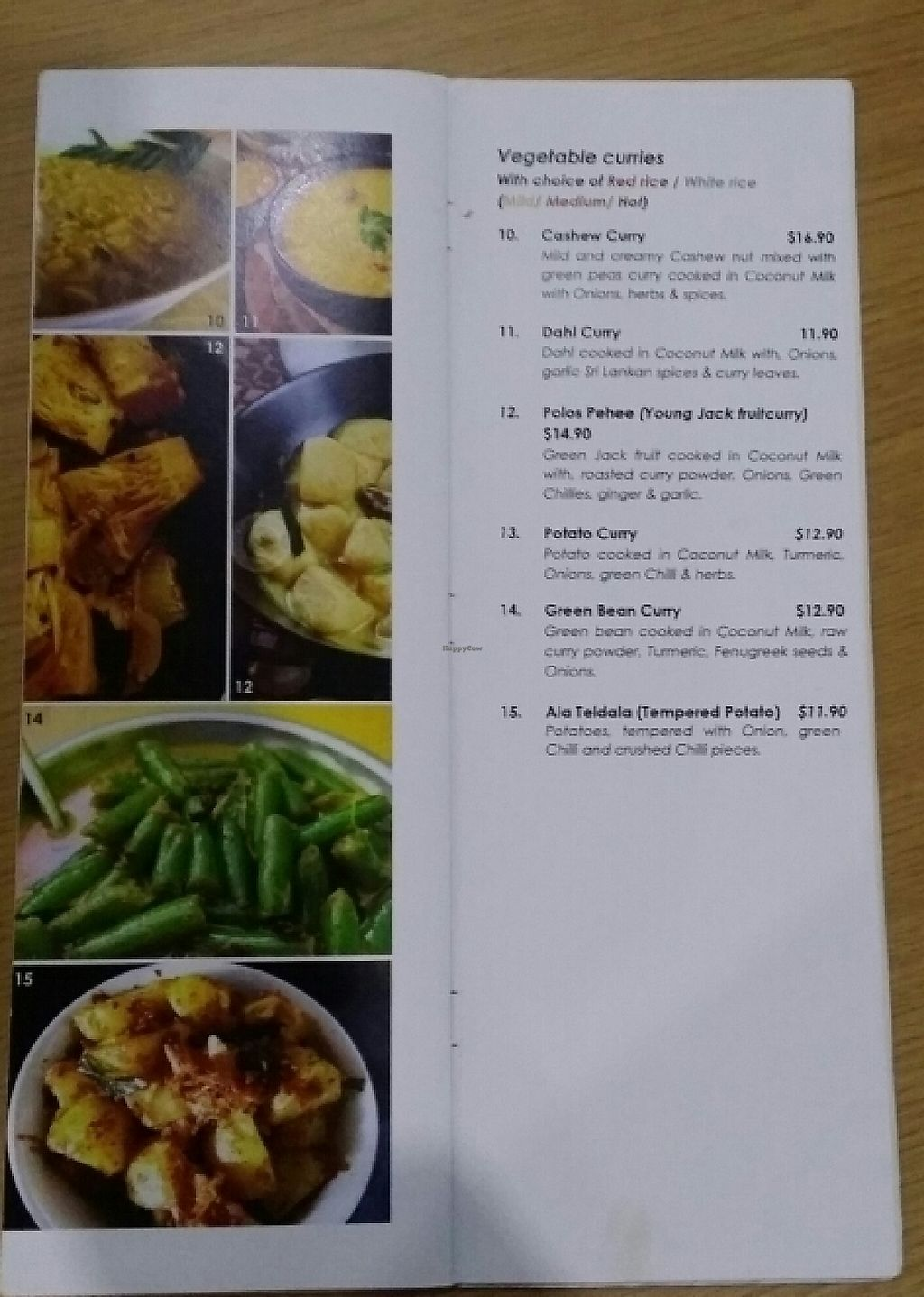 """Photo of CLOSED: Ceylon Dine in Style  by <a href=""""/members/profile/Mike%20Munsie"""">Mike Munsie</a> <br/>vego menu 1 <br/> May 11, 2017  - <a href='/contact/abuse/image/90467/257774'>Report</a>"""