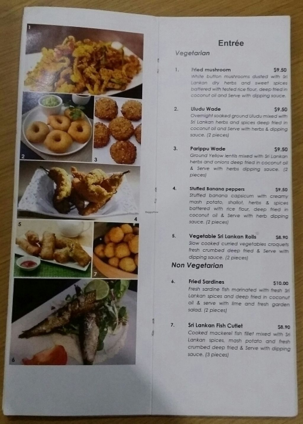 """Photo of CLOSED: Ceylon Dine in Style  by <a href=""""/members/profile/Mike%20Munsie"""">Mike Munsie</a> <br/>vego menu 2 <br/> May 11, 2017  - <a href='/contact/abuse/image/90467/257775'>Report</a>"""
