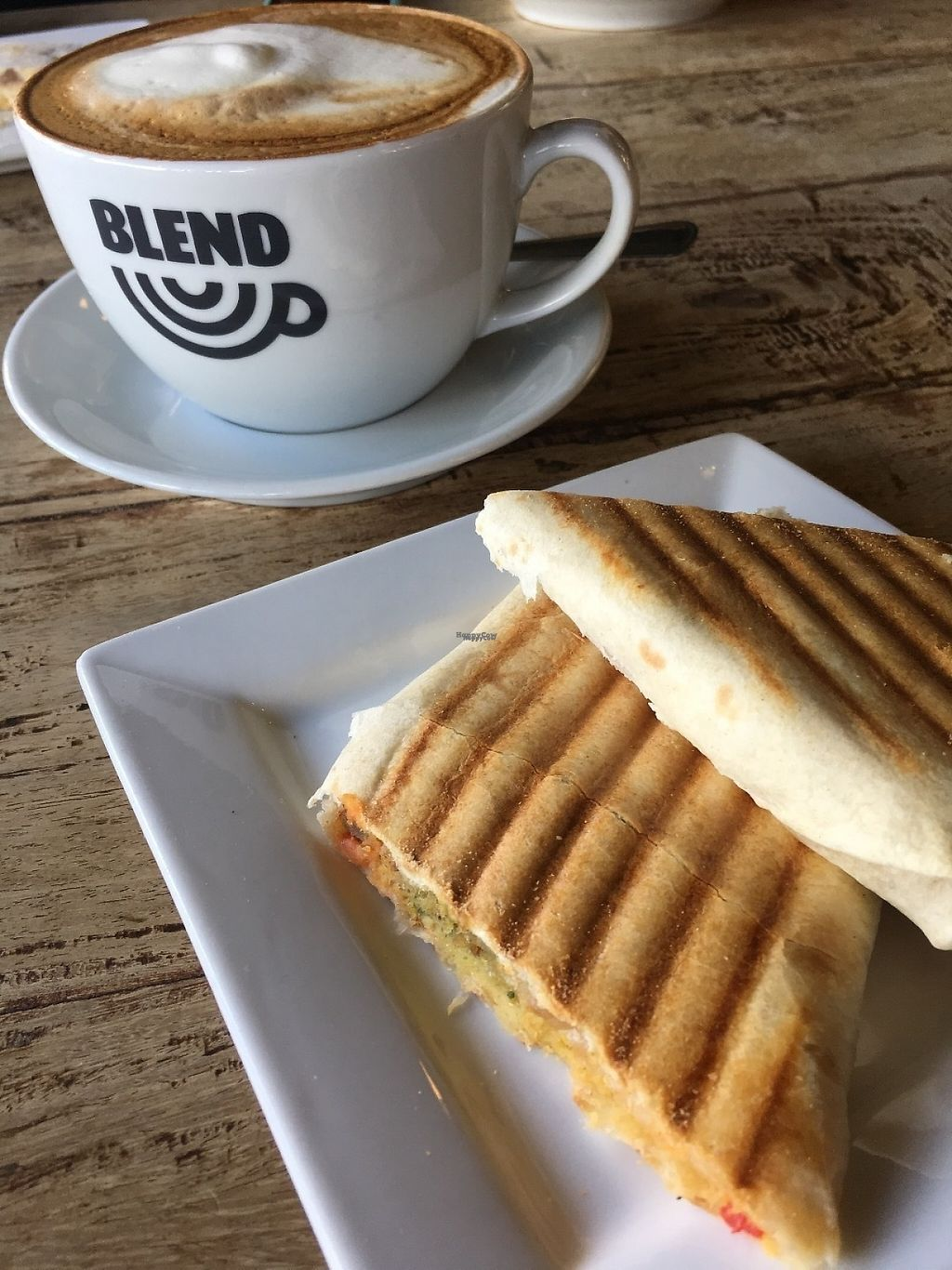"""Photo of Blend Coffee Lounge  by <a href=""""/members/profile/radiocaz"""">radiocaz</a> <br/>Vegan falafel wrap <br/> April 17, 2017  - <a href='/contact/abuse/image/90481/249297'>Report</a>"""