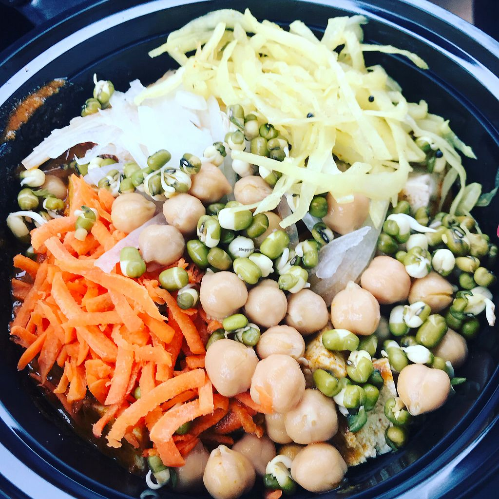 """Photo of Curry Up Indian Grill  by <a href=""""/members/profile/LindsayWhite"""">LindsayWhite</a> <br/>Vegan sauce options! <br/> March 2, 2018  - <a href='/contact/abuse/image/90503/365893'>Report</a>"""