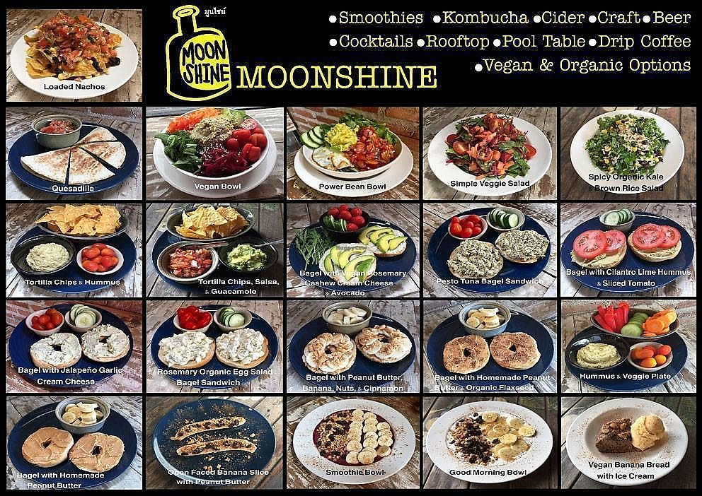 """Photo of CLOSED: Moonshine  by <a href=""""/members/profile/CharityBosua"""">CharityBosua</a> <br/>Menu - Many vegan options <br/> February 19, 2018  - <a href='/contact/abuse/image/90516/361287'>Report</a>"""