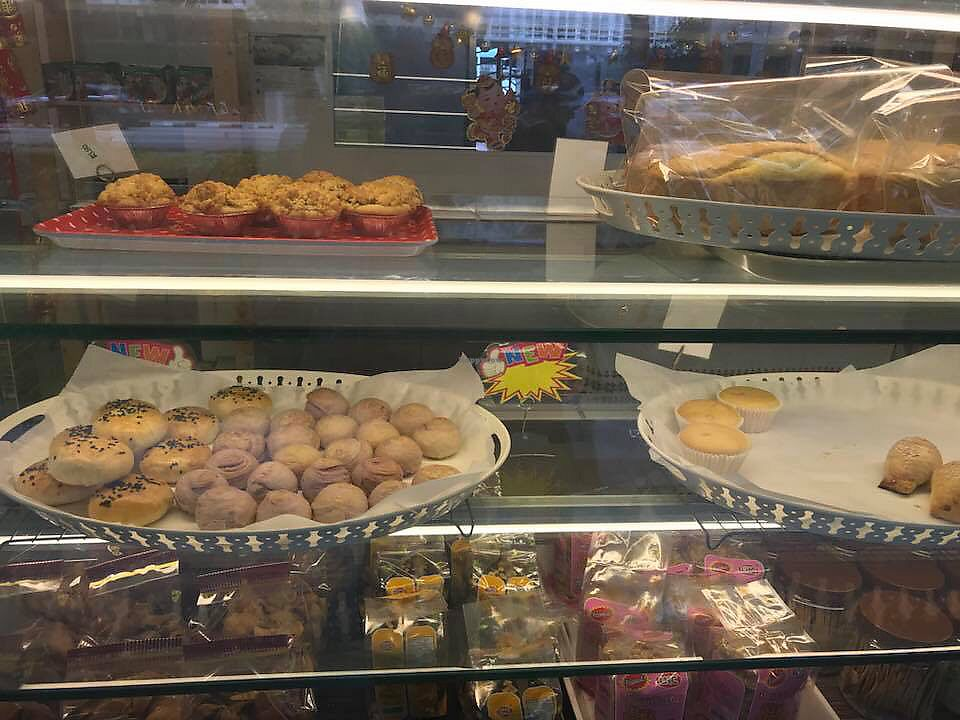 "Photo of M Bakery  by <a href=""/members/profile/CherylQuincy"">CherylQuincy</a> <br/>Bake selections in display case <br/> March 9, 2018  - <a href='/contact/abuse/image/90529/368379'>Report</a>"
