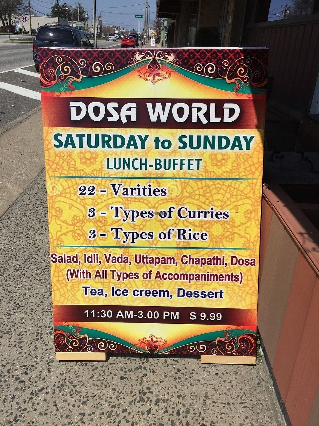 """Photo of Dosa World  by <a href=""""/members/profile/suzagord"""">suzagord</a> <br/> There are many more good items for vegans on the menu then at the buffet, I would choose the menu  <br/> April 16, 2017  - <a href='/contact/abuse/image/90559/249120'>Report</a>"""