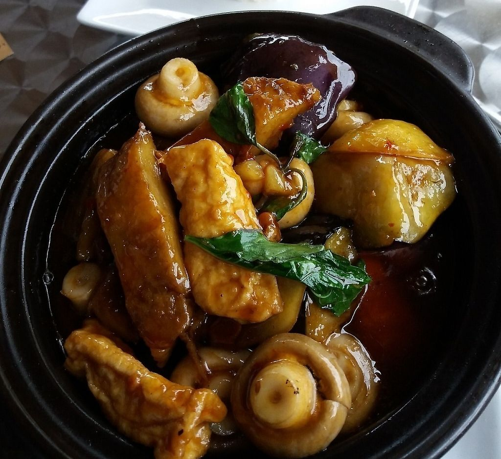 """Photo of An Nhien Vegetarian Cuisine  by <a href=""""/members/profile/veganvirtues"""">veganvirtues</a> <br/>Claypot with veggies <br/> April 22, 2017  - <a href='/contact/abuse/image/90586/251252'>Report</a>"""